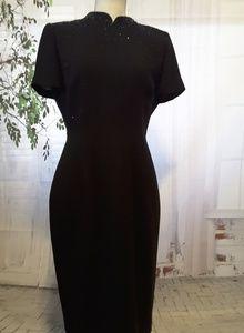 Donna Morgan black beaded dress size 6